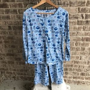 Sleep Sense 2 Piece Pajama Set Blue White Sheep